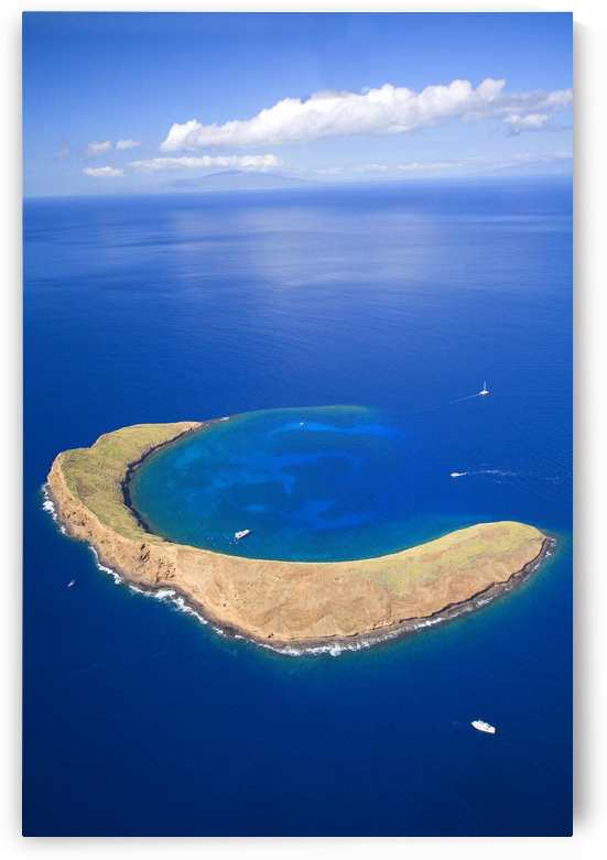 Hawaii, Maui, Molokini Crater, Aerial View. by PacificStock