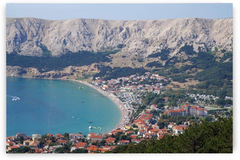 view of Baska, croatia by Babetts Bildergalerie