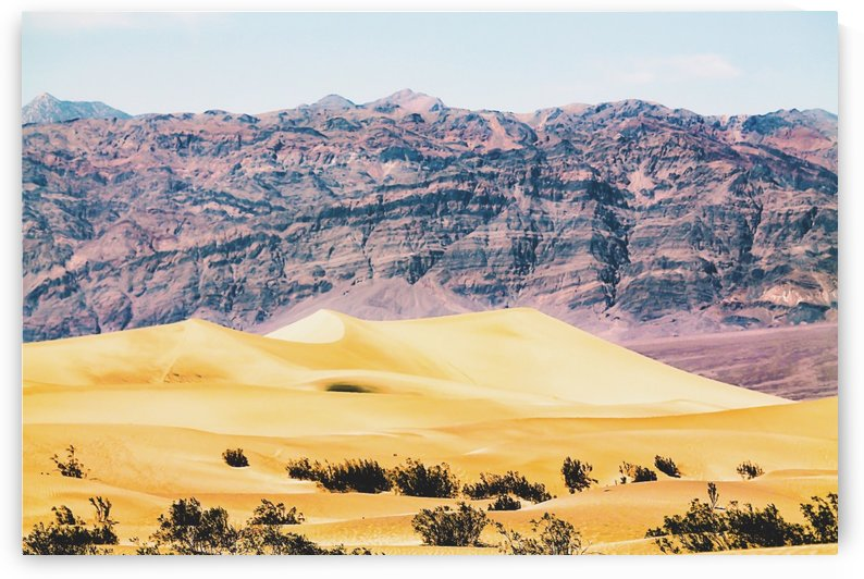 sand desert with mountain background at Death Valley national park, USA by TimmyLA