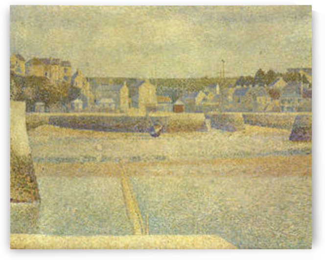 Port-en-Bessin, The terminal at low tide by Seurat by Seurat