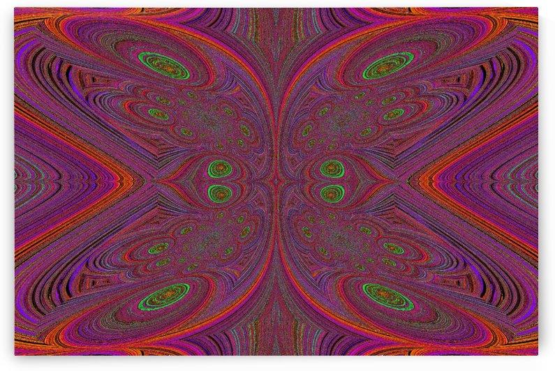 Digital Butterfly Purple Orange  by Sherrie Larch