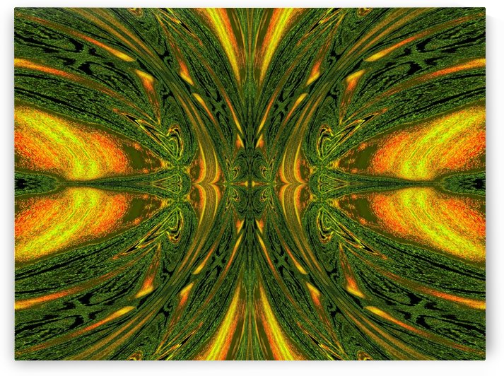 Green Mystical Butterfly 1 by Sherrie Larch