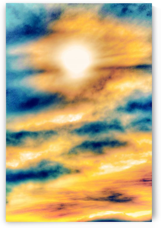 beautiful cloudy sunset sky in summer by TimmyLA