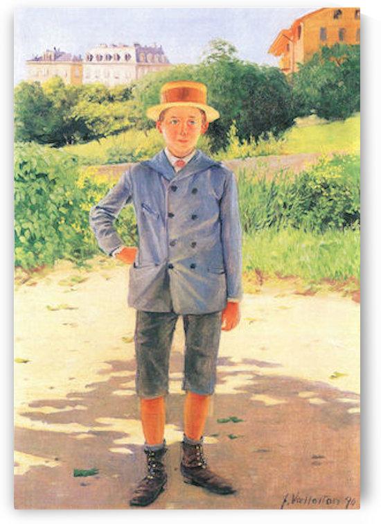 Portrait of a young Delisle by Felix Vallotton by Felix Vallotton