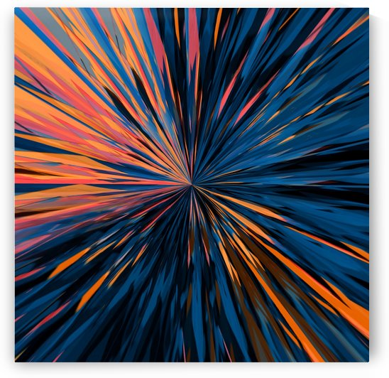 psychedelic splash painting abstract pattern in orange brown pink blue by TimmyLA