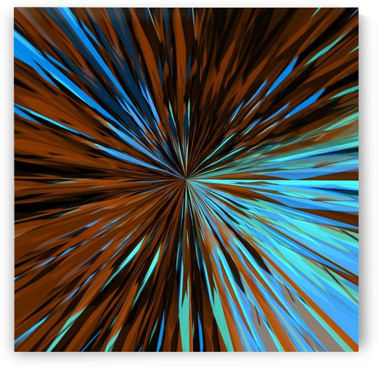 psychedelic splash painting abstract pattern in brown and blue by TimmyLA