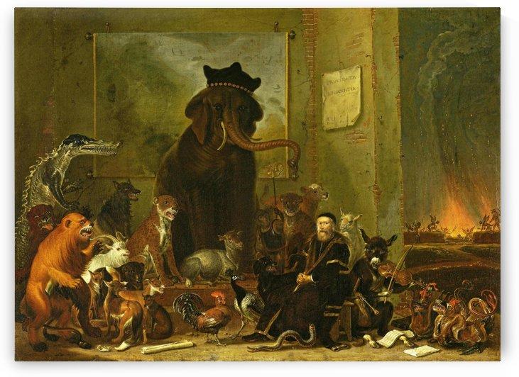Satire on the trial of Johan van Oldenbarneveldt, 1663 by Cornelis Saftleven