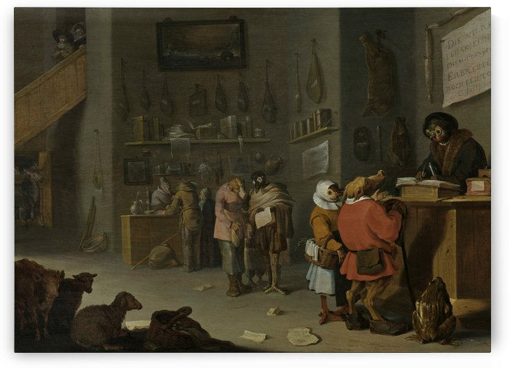 Who sues for a cow by Cornelis Saftleven