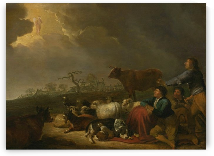 The Annunciation to the shepherds by Cornelis Saftleven