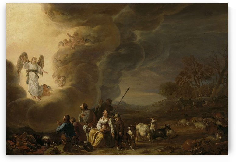 The proclamation to the shepherds by Cornelis Saftleven