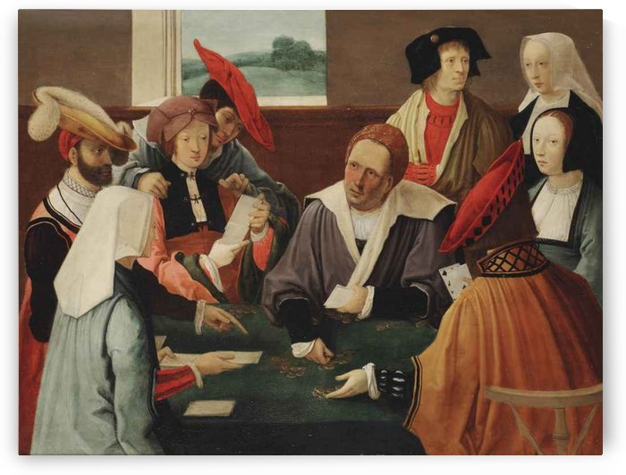 The card players by Gaspare Traversi