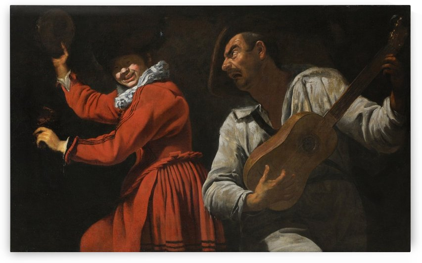 The two musicians by Gaspare Traversi