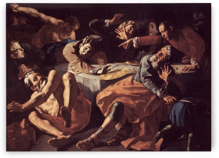 The death of Aaron by Gaspare Traversi