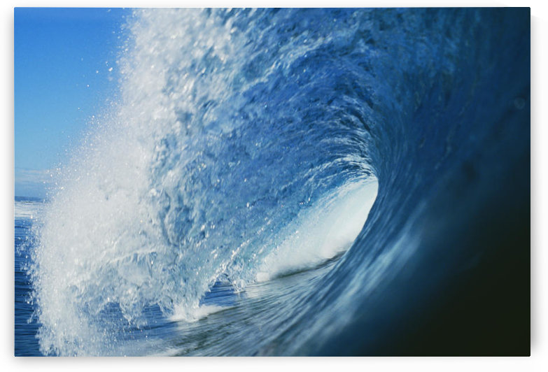 Hawaii, Inside Curling Blue Wave by PacificStock