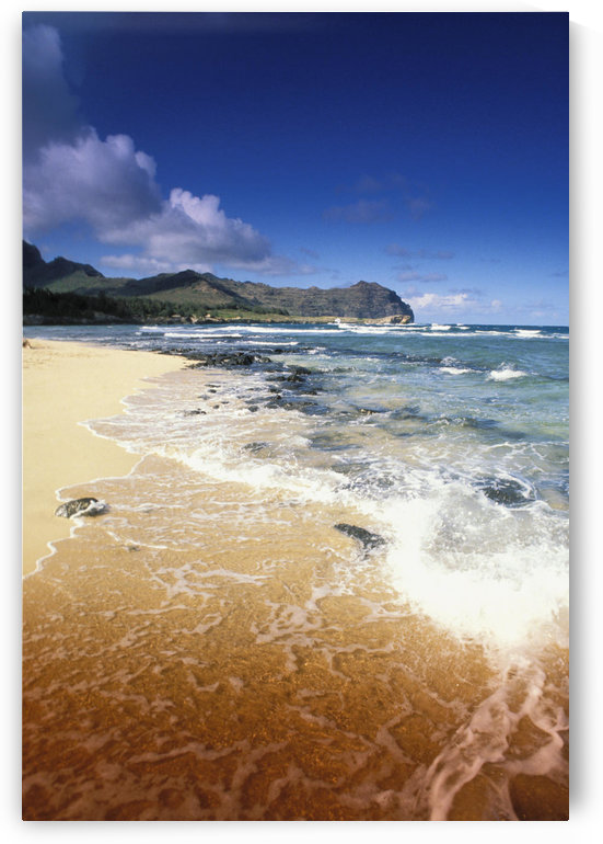 Hawaii, Kauai, Poipu, Shipwrecks Beach, White Sands, Shoreline Water by PacificStock
