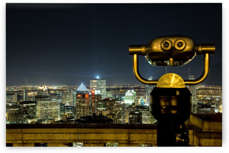 Montreal at Night by Ron Harris