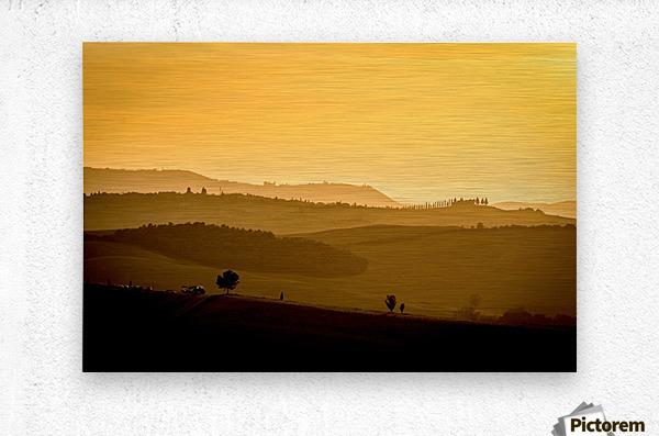 Tuscany Pienza Dawn  Metal print