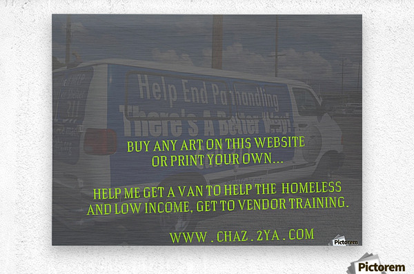 helping the homeless get to vendor training. OKC  Metal print