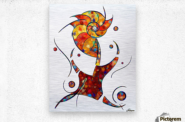Espanessua - imaginery spiral flower  Metal print