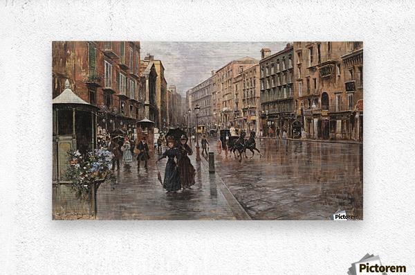 Napoli, Via Toledo  Metal print