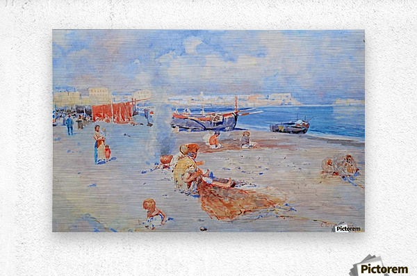 Beach of Mergellina  Metal print