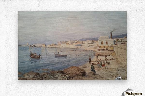 Marina di Napoli  Metal print