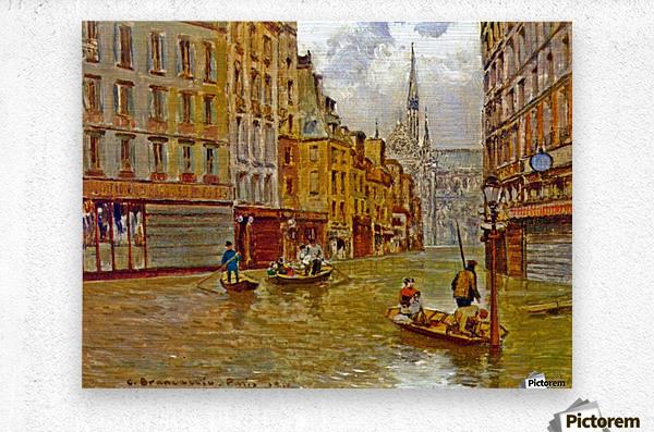 Street in Paris during Flood of 1910  Metal print