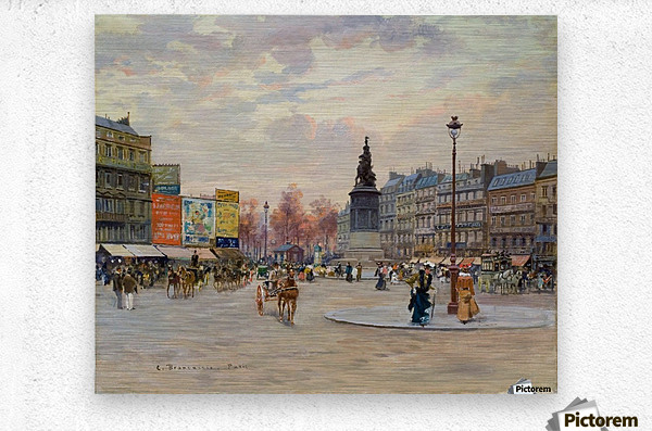 Place of Clichy  Metal print