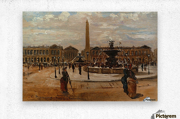 Place of the Concorde animated  Metal print