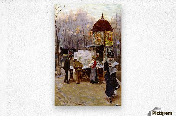 Paris, 1899  Metal print