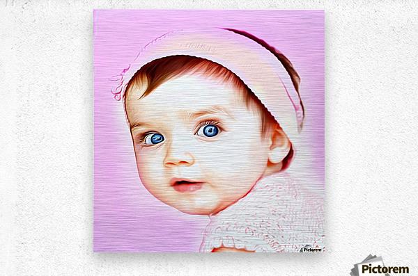 Cute Baby Pic Art  Metal print
