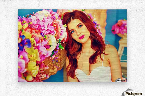 WeddingPic PicArt  Metal print