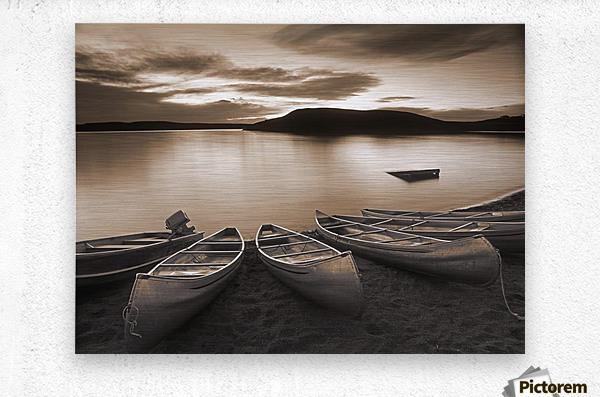 Elkwater Lake, Cypress Hills Interprovincial Park, Eklwater Alberta Canada.  Metal print