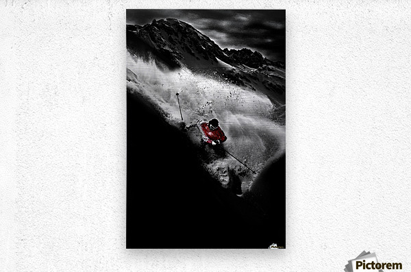 Dark Freeride  Metal print