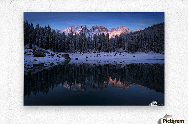 The first morning  Metal print