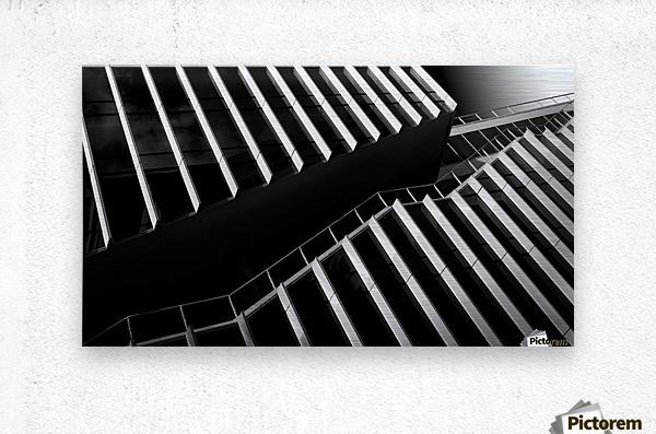 Up between the facades  Metal print