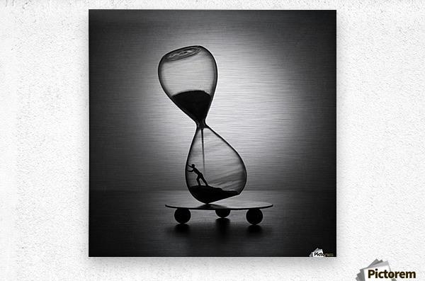 Stop the time  Metal print