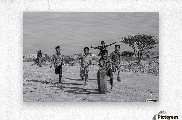 Kids playing  Metal print