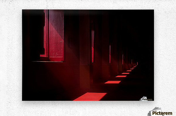 In the red temple  Metal print