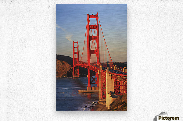 Golden Gate Bridge; San Francisco, California, United States of America  Metal print