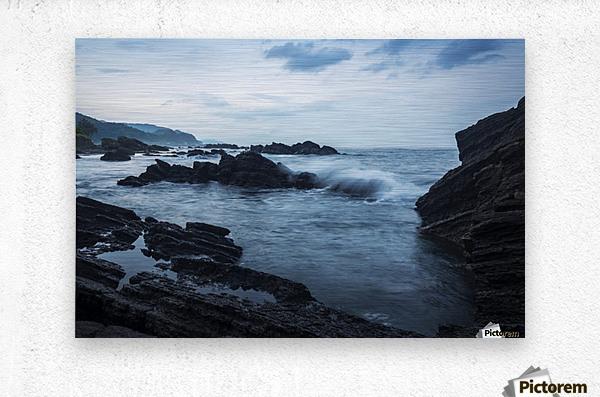 Waiao beach in Yilan County, beautiful volcanic landscape; Taiwan, China  Metal print