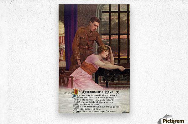 Original  First World War postcard  Metal print