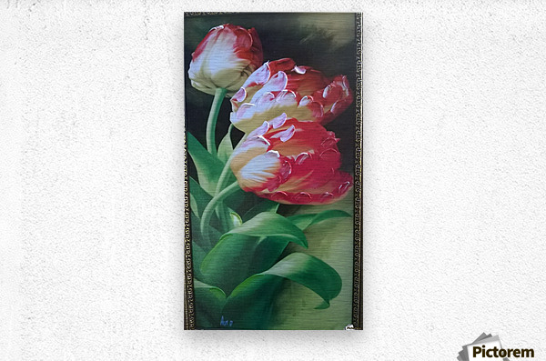 red flowers for  lovers   Metal print