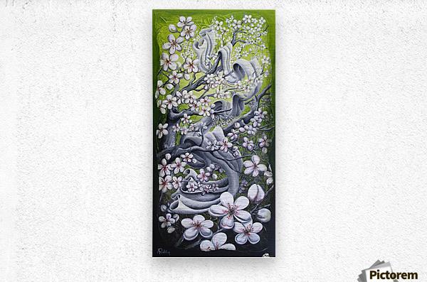 Cherry blossom dance  Metal print