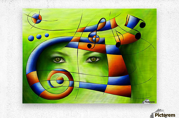 Hispanissia - painted music  Metal print