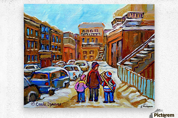 BEAUTIFUL DAY FOR A WALK IN MONTREAL  Metal print