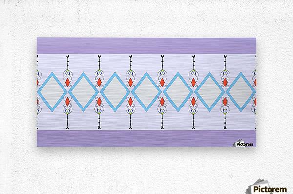 Pastel Pattern 1  Metal print