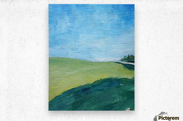 Study for Fields at Cossall  Metal print