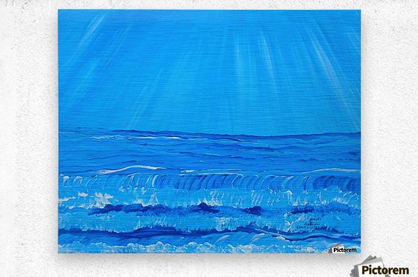 27_027 waves R  Metal print