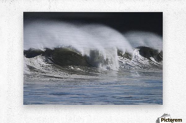 Waves Crashing On Mill Bay Beach Kodiak Island Southwest Alaska Autumn  Metal print